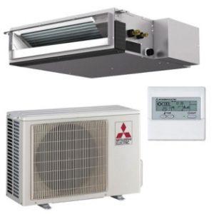 Кондиционеры Mitsubishi Electric канальные сплит-системы, охлаждение-нагрев (Inverter)